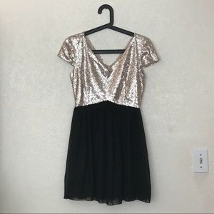 Dress size 3 sequins rose gold and silver dress
